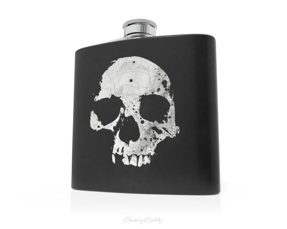 Poison Skull - 6oz Hip Flask - Vinyl