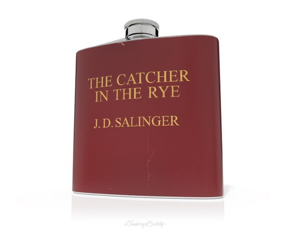 Vintage Catcher in the Rye inspired  - 6oz Hip Flask - Vinyl