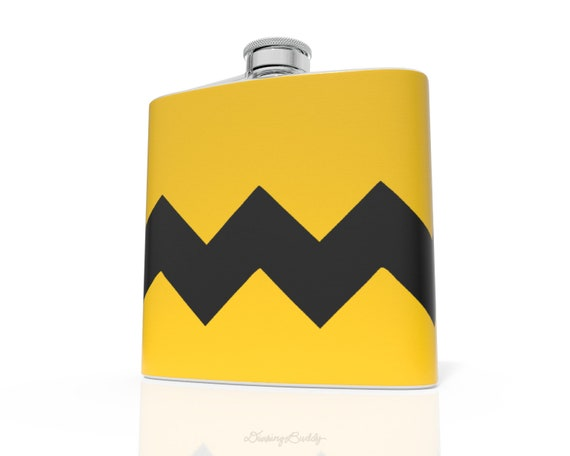 Charlie Brown Zig Zag - 6oz Hip Flask - Vinyl