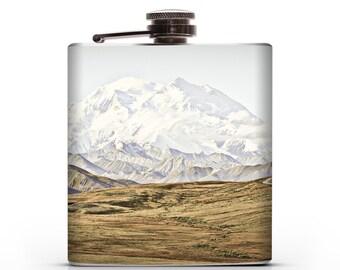 Alaskan Mountains - 6oz Whiskey Hip Flask
