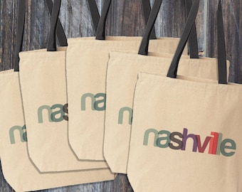 Nashville Tote Bag, Nashville Bachelorette, Nashville Wedding Welcome Bag, Nash Bash Tote Bags, Destination Wedding Favors, Nashville Gift