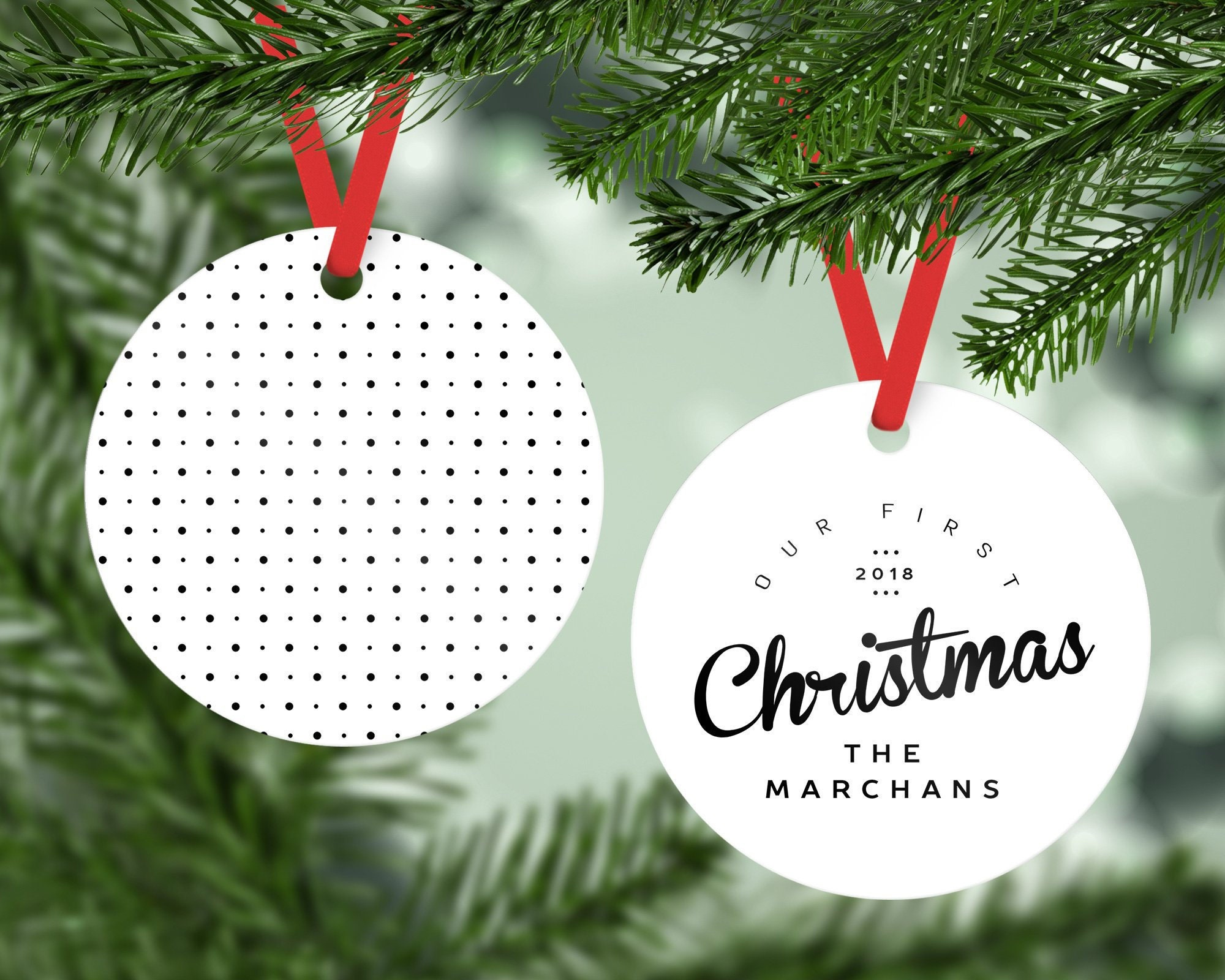 Our First Christmas Ornament Personalized Newlywed Christmas   Etsy