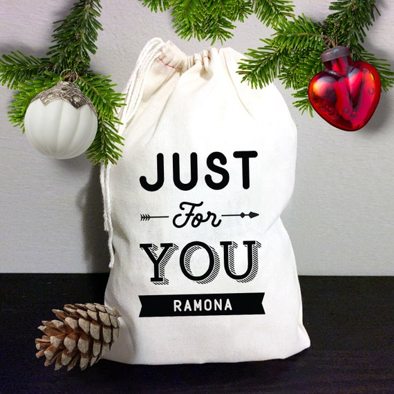 Fabric Christmas Gift Bag Custom Personalized Holiday Gift Bags ...