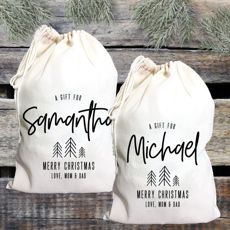 Bridal Party and Bridesmaids Winter Bachelorette Personalized Gift Bags for Christmas