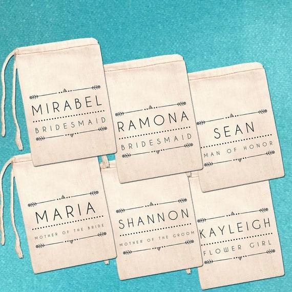 Custom Bridesmaid Bags Bridal Party Favor Bags Personalized