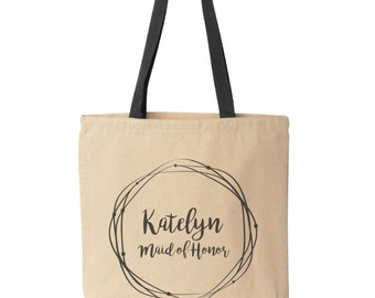 Custom Tote Bag, Wedding Tote Bag, Bridesmaid Tote, Personalized Wedding Bags, Custom Totes