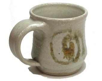 Stoneware Pottery Coffee Mug Handmade Iron Spirals Ceramic Cup
