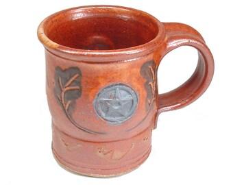 Stoneware Pentacle Leaves Coffee Mug Cup Wiccan Travel Mug