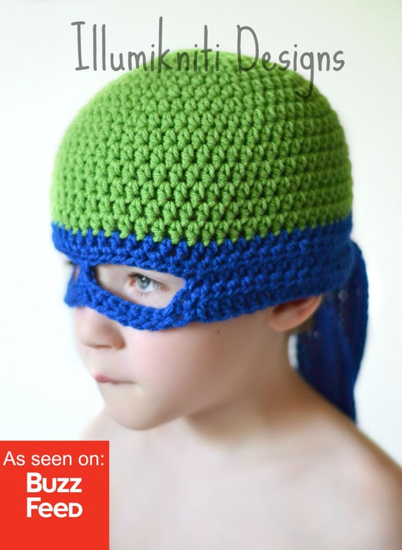 Teenage Mutant Ninja Turtle Häkelmütze Spaß-Hut für Kinder | Etsy