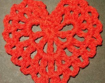 Hand Crocheted Hearts set of 6