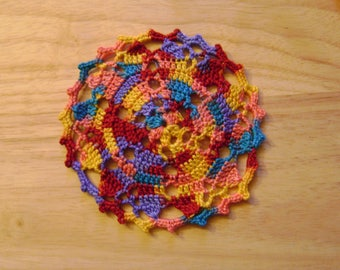 Hand Crocheted Small Doilies set of 6
