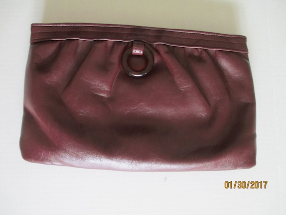 JR Florida, USA  vintage brown leather clutch, Jul