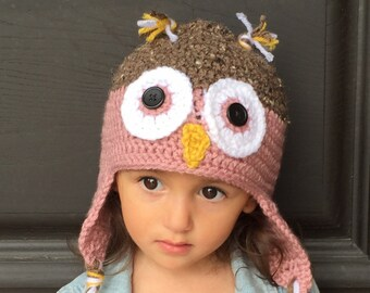 d185f4c49b0 Owl Hat - Owl Costume - Newborn Photo Prop - Baby Hat - Child Hat - Adult  Hat - Mommy   Me - Size Newborn to Adult