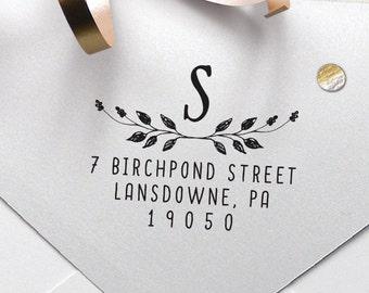 "Personalized Address Stamp, Self Inking Address Stamp, Housewarming Gift, DIY Gift, Wedding Gift. Custom Address Stamp 2 x 1.5"" - A43"