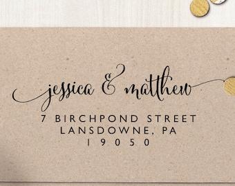 "Return Address Stamp, Self Inking Address Stamp, Housewarming Gift, DIYer Gift, Wedding Gift. Custom Address Stamp 3"" x 1.25"" - A30"