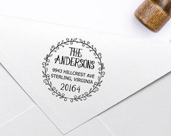 custom return address stamp 1 5 inch square hand carved etsy