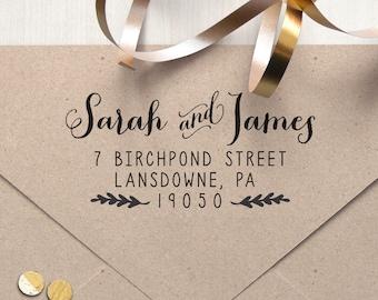 "Return Address Stamp, Self Inking Address Stamp, Housewarming Gift, DIYer Gift, Wedding Gift. Custom Address Stamp 2.5"" x 1.5"" - A26"