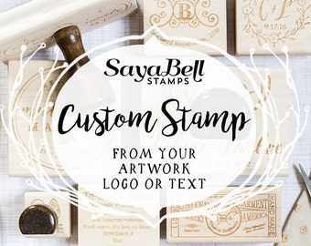 Custom Logo Stamp from your Design or Logo, Personalized Stamp, Business Logo Stamp, Custom Rubber Stamp, Wedding Stamp. Perfect Gift