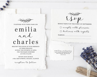 Wedding Invitation Stamp Suite Custom Stamps RSVP Rubber Set WS02