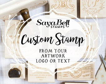 Custom Rubber Stamps, Business Logo Stamps, Clay Stamps & Pottery Stamps. Custom Logo Stamp, Personalized Stamp, Invitation or Save the Date