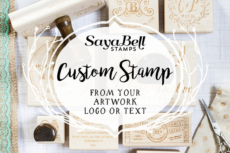 Custom Rubber Stamps Business Logo Stamps Clay Stamps & Soap & Clay