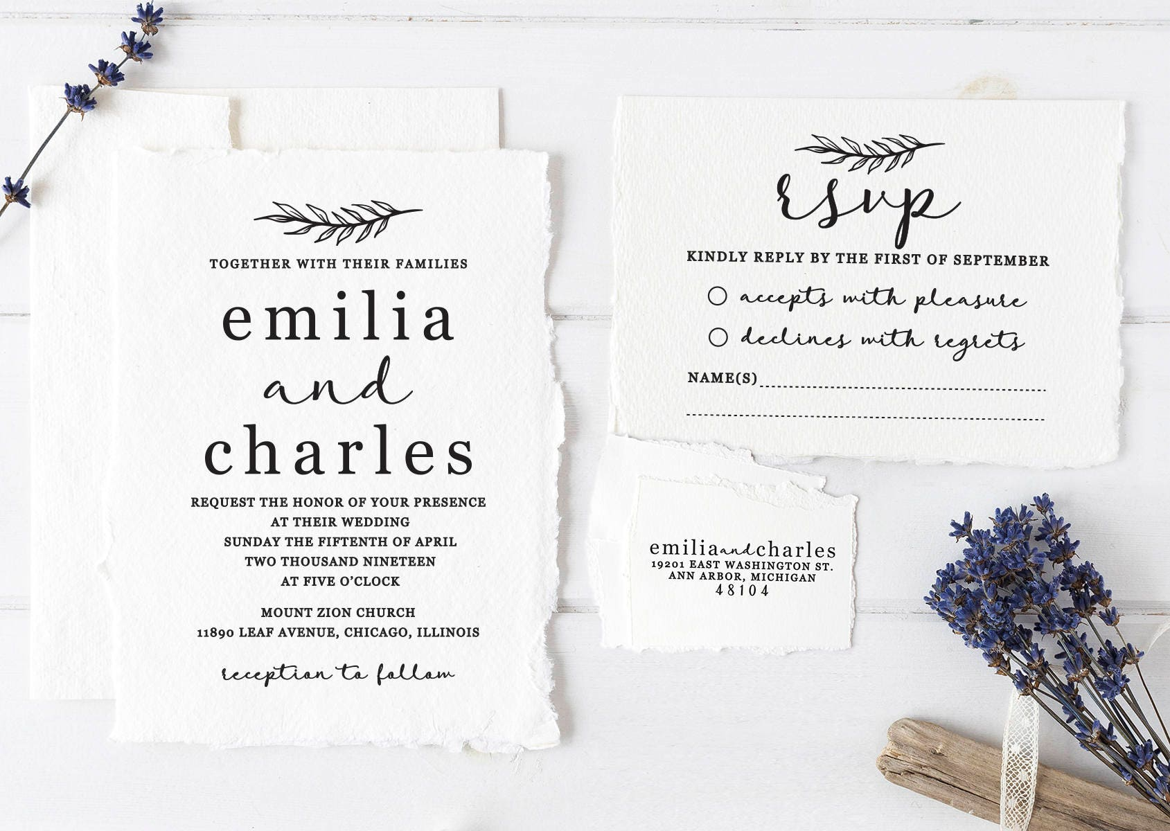 Personalized Stamps For Wedding Invitations: Wedding Invitation Stamp Suite. Custom Wedding Stamps.