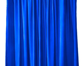 Image result for ROYAL BLUE COLOR PLAIN CURTAINS