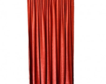 Gray FR Velvet Curtain 108 High Long Wall/Door Panel | Etsy
