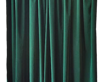 Cheap Modern Custom Boutique Or Home Living Room Bedroom Window Treatments Covering Display Drapes Green Velvet 72 Inch Curtain Long Panels