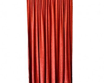 1853f70d5657 Red FR Velvet Curtain 108