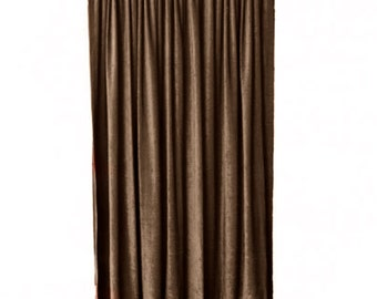 14665d560b2a Brown Velvet Curtain Panel 144