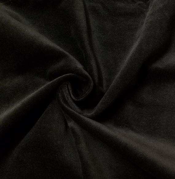 qualit stretch noir 100 coton velours velours tissu pour etsy. Black Bedroom Furniture Sets. Home Design Ideas