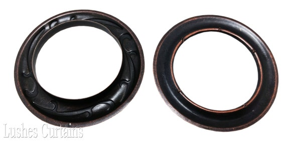 50//100 pcs Large Copper Oxide Design #18 Metal Curtain Drapery Hardware Supplies #12-1 9//16 inch Inner Diameter Decorative Grommet//Rings w//Washer Eyelet Lot of 10//25 Pack of 10