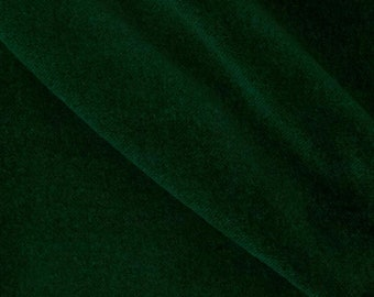 Dark Forest Green Flocked Velvet Fabric for Upholstery Packaging Crafts Curtain Drapery Quality Material Sold Per Yard 54 inch Wide - Sale