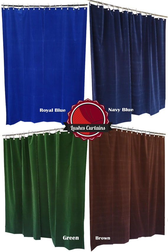 Navy Blue 108 inch H Velvet Curtain Panel w//Grommet Top Eyelets Window Drapery