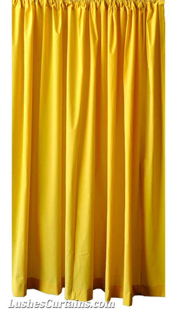 yellow velvet 120 inches h curtain long single panel drape etsy. Black Bedroom Furniture Sets. Home Design Ideas