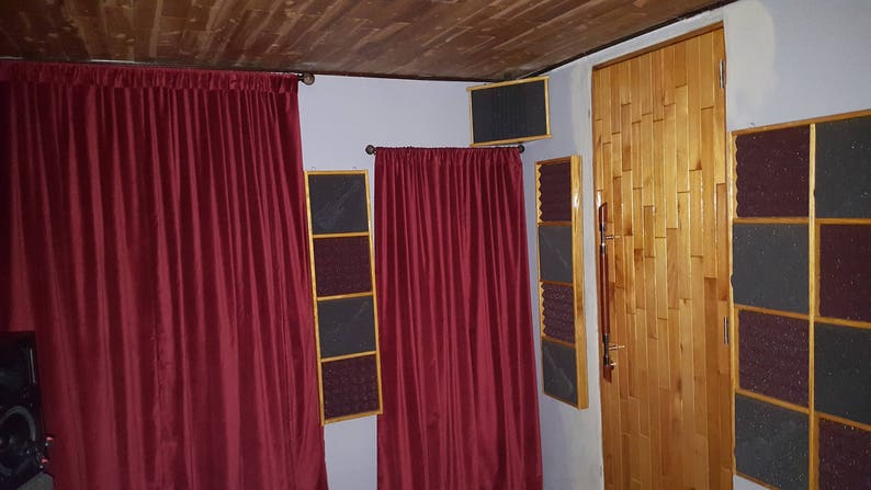 Burgundy Cotton Velvet Curtain 72 Long Panel Drapes High Quality Heavy  Thick Ready Made Energy Saving
