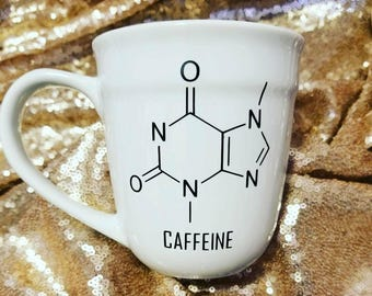 Caffeine chemical structure coffee mug