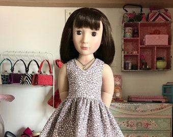 "16 inch , 16"" doll clothes -    Dainty   flowered lisianthus dress  ,fits slim 16 inch dolls."