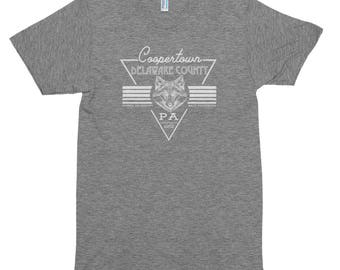 Coopertown, Delaware County PA - Short sleeve soft t-shirt American Apparel Tri Blend Track Tee