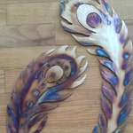 Set of 2 Peacock Feathers