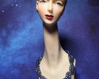 Blue doll necklace 1/6 1:6 1 6th bjd obitsu barbie azone blythe pullip dal
