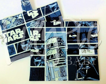 "Reusable Sandwich Bag & Reusable Snack Bag in ""Star Wars"" cotton print - Back to School"