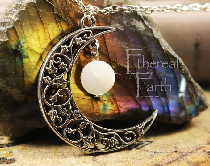 Mother of Pearl Crescent Moon for Creativity