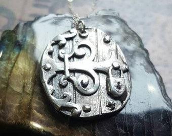 Sterling Silver Medieval Castle Door Pendant