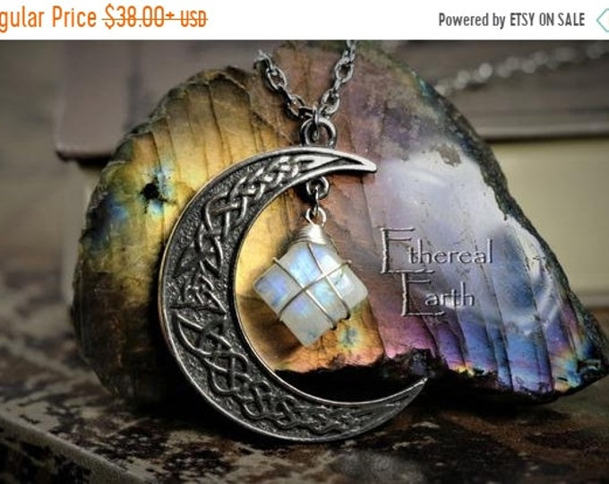 Celtic Knot Crescent Moon Necklace for Inspiration
