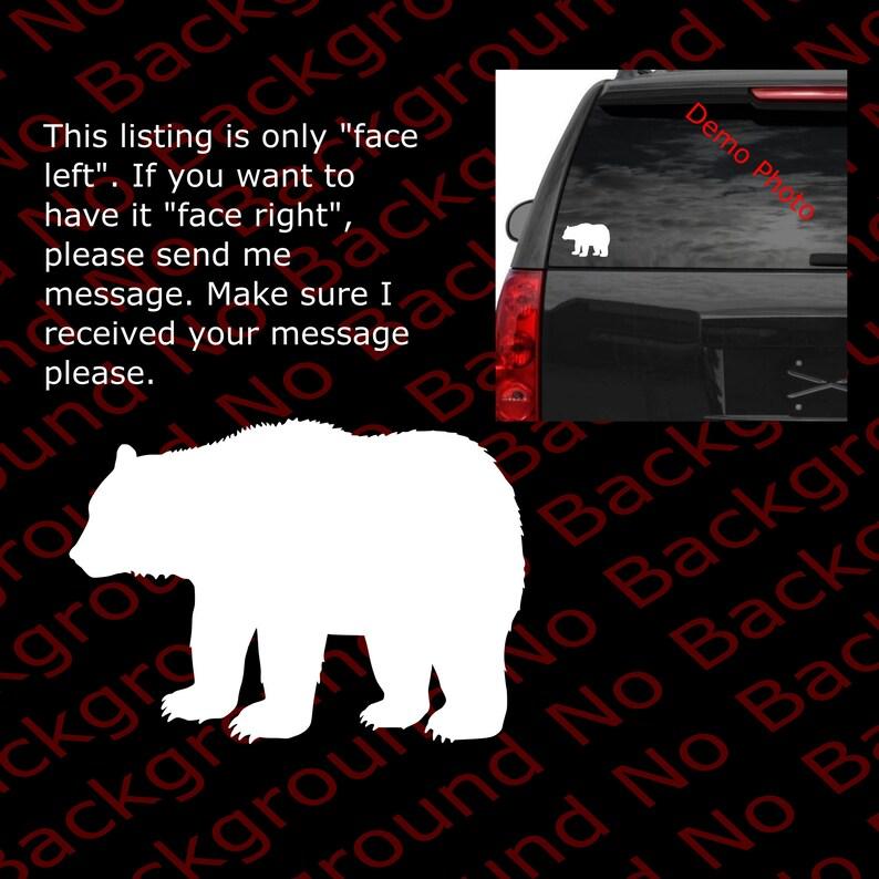 CALIFORNIA BLACK//POLAR BEAR Sticker Grizzly Outdoor Car Window Vinyl Decal AM006
