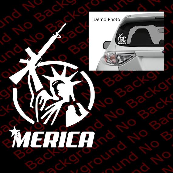 /'Merica Statue Of Liberty Gun Car Truck Window Laptop Case Vinyl Decal Sticker