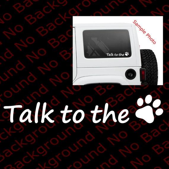 I Love My Dog PAW PRINT//Heart Die Cut Vinyl Decal Car Window//Phone Sticker AM010