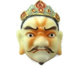 Toshikane KOMOKUTEN Button 広目天 Guardian Deity トシカネ Four Heavenly Kings KOJIMA Art Porcelain Six Buddhist Deities Japanese Arita Ceramic